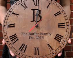 Personalized Wedding Clocks Engraved Clock Etsy