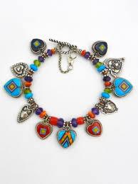beaded heart bracelet images Classic beaded charm bracelets aldrich art jewelry jpg