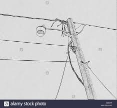 street with electricity wires stock photos u0026 street with