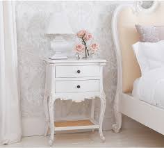 White Bedside Table Provencal 2 Drawer White Bedside Table Bedside Tables