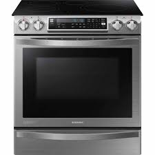 samsung ne58h9970ws 5 8 cu ft slide in electric chef slide in electric chef collection range w flex duo oven stainless steel