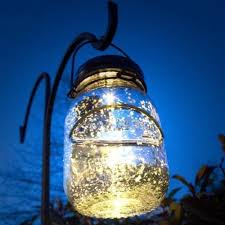 solar lights malibu solar jar led l glass firefly jars that light up