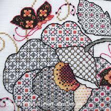 lesley teare designs flower butterflies blackwork cross