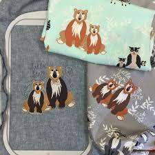 australian shepherd fabric hello hello bear embroidery designs u2014 maxie makes