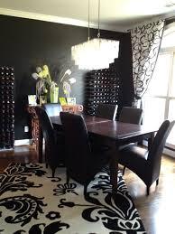 black dining room monochromatic dining nicsrevelations