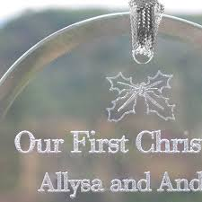 personalized laser etched glass ornament