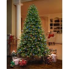 pre lighted led christmas trees ge 7 5 ft artificial aspen fir pre lit led easy light technology