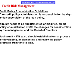 Formal Credit Policy Credit Risk Management Lecture