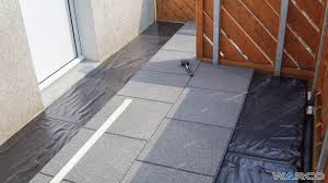 warco tiles installation on roofing foil or bituminous sheeting