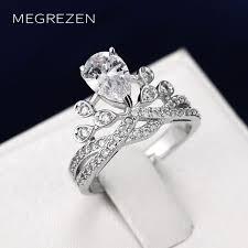 engagement rings on sale megrezen charm engagement ring crown adjustable