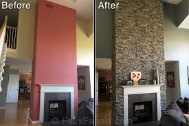 how to resurface a fireplace quickly easily creative faux panels