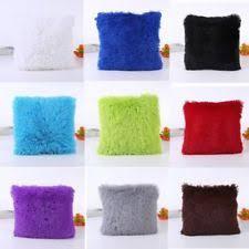 fluffy cushion covers ebay
