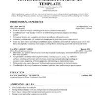 Housekeeping Resume Templates Free Printable Housekeeping Resume Example Displaying Excellent