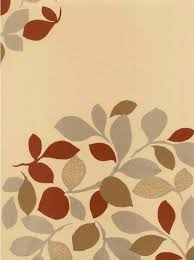 Earthy Orange Earthy Contemporary Leaf Wallpaper Transitional Abstract