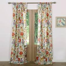 Burnt Orange Curtains And Drapes Floral Curtains U0026 Drapes You U0027ll Love Wayfair