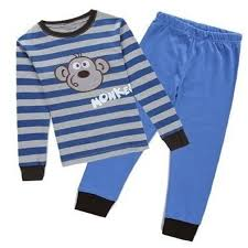 monkey boys pajamas 2 pieces clothes baby pyjamas sleeve children