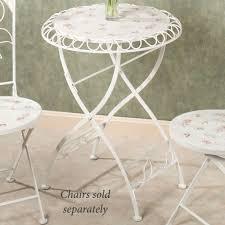 White Metal Chairs Outdoor Abigails Garden Indoor Outdoor Metal Bistro Furniture