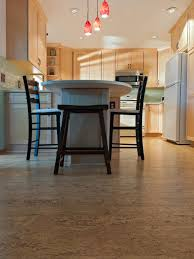 flooring cozy cork floors with dark wood high bar stools and