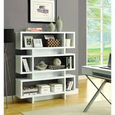 Bookshelf 3 Shelf Monarch Specialties White Open Bookcase I 2532 The Home Depot