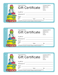happy birthday gift certificate template jerzy decoration