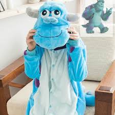 Sulley Womens Halloween Costume Monsters University Mike Wazowski Sulley Onesies Pajamas Kigurumi