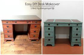 Diy Easy Desk Easy Diy Desk Makeover Before After I My Disorganized Png