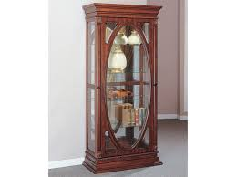 Antique Curio Cabinet With Clock Acme Furniture Becka Curio Cabinet With 4 Glass Shelves Del Sol