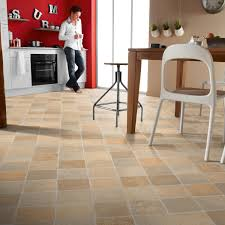 Laminate Flooring For Kitchens Tile Effect Rhino Classic Cottage Stone Beige Grey Vinyl Vinyl Carpetright