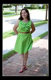 green polka dot coffee date dress u2013 sewing projects burdastyle com