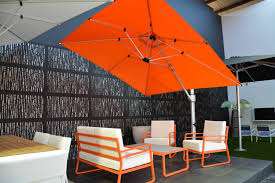 Large Cantilever Patio Umbrella Large Rectangle Yellow Outdoor Cantilever Umbrella For Pool Of