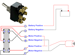 connecting a 6 terminal toggle switch to a 12volt dc motor or dc