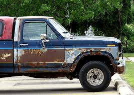 rusty pickup truck image rusty ford f 150 pickup truck by flickr user merobson size