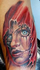 powerline tattoo tattoos skull full color
