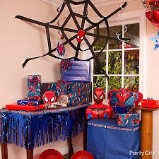 the party ideas spider streamer web diy decorating ideas spider party