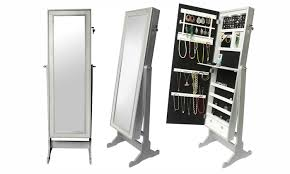 cheval jewelry armoire full length cheval mirror jewelry armoire groupon