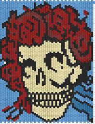 Grateful Dead Curtains Diy Crochet Pattern Pdf Grateful Dead Dancing Bear By Ofmars