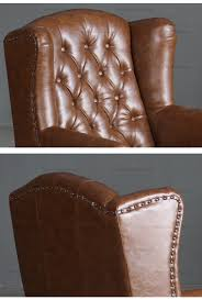 Vintage Leather Club Chair Vintage Leather High Back Sofa Chair High Back Chair For Hotel