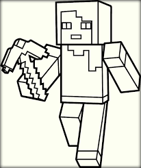 minecraft coloring pages of steve minecraft number coloring pages