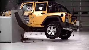 jeep wrangler 4 door iihs 2015 jeep wrangler 4 door small overlap crash test good