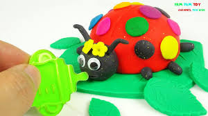 diy how to make play doh cake rainbow ladybug crafts for kids