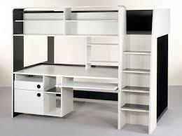 lit mezzanine ado avec bureau et rangement tendance le lit mezzanine décoration