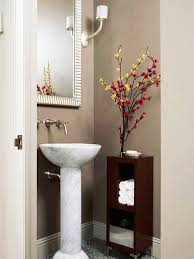How To Make Storage In A Small Bathroom - make a small bath look larger pedestal sink small bathroom and