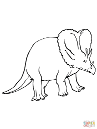 triceratops cretaceous period dinosaur coloring page free