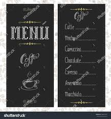 Type Of Invitation Card Coffee Menu Card Different Types Coffee Stock Vector 400825228