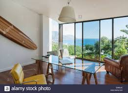 Office View by Modern Home Office With Ocean View Stock Photo Royalty Free Image