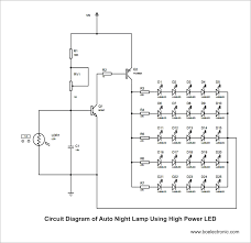 component led lamp circuit 220v light operated night control