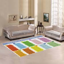 interestprint colorful multiplication area rugs carpet for kids 7