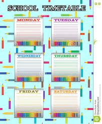 timetable template rental receipt form