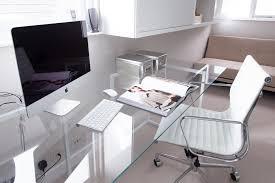 Modern Glass Office Desk Full 15054  Interior Design