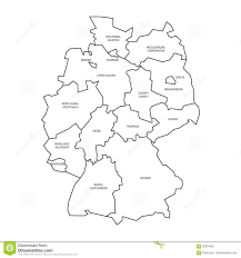 Map Og Germany by Map Of Germany Devided To 13 Federal States And 3 City States